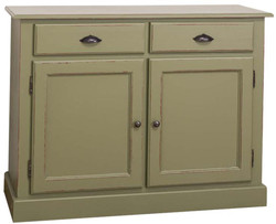 Casa Padrino Country Style Shabby Chic Solid Wood Kitchen Cabinet Antique Green 120 x 45 x H.90 cm - Kitchen Cabinet in Country Style
