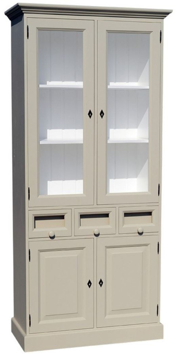 Casa Padrino Landhausstil Küchenschrank mit 4 Türen und 3 Schubladen ...