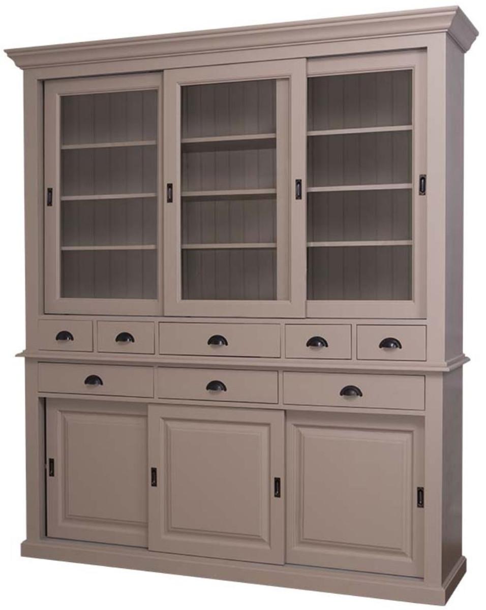 casa padrino landhausstil k chenschrank 199 x 48 x h 225. Black Bedroom Furniture Sets. Home Design Ideas