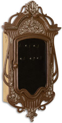 Casa Padrino Jugendstil Schlüsselkasten Antik Braun 26,4 x 7,8 x H. 46,5 cm - Deko Accessoires