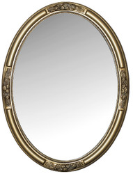 Casa Padrino Baroque Mirror Gold 57 x H. 77 cm - Oval Baroque Wall Mirror with Wooden Frame