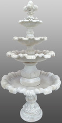 Casa Padrino Baroque Garden Fountain with Lily Ø 130 x H. 232 cm - Splendid Fountain in Baroque Style