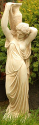 Casa Padrino Art Nouveau Sculpture Woman with Jug 22 x H. 90 cm - Garden Deco Figurine