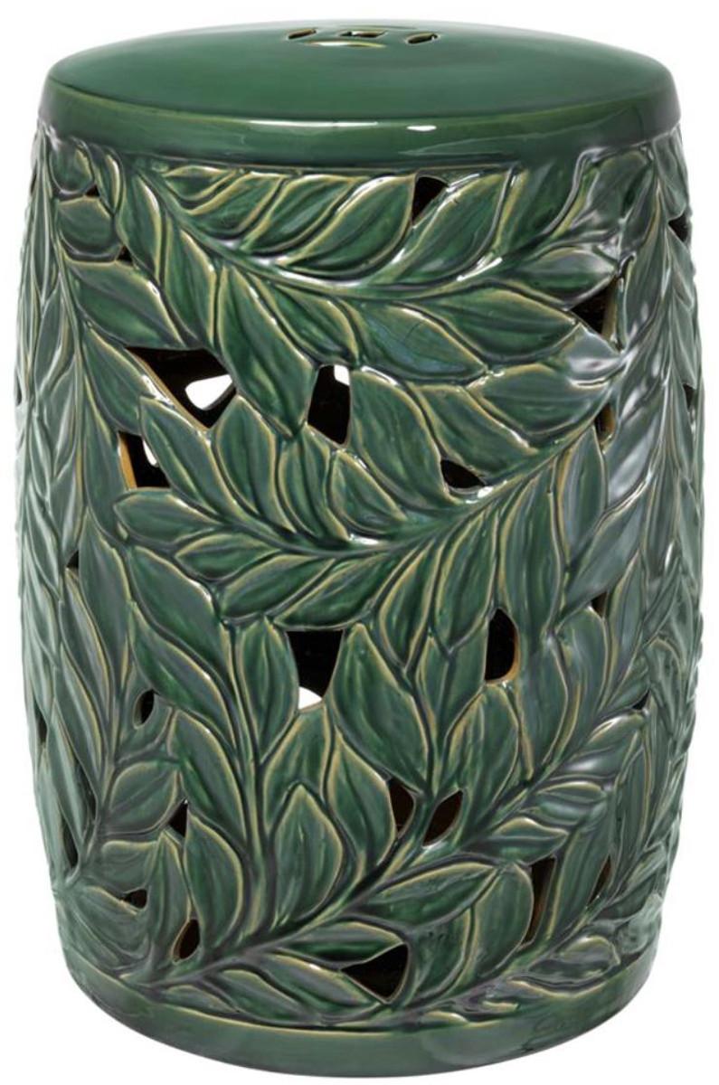 Casa Padrino Keramik Deko Trommel Grün Ø 34 X H. 48 Cm   Luxus Wohnzimmer  Dekoration