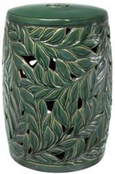 Casa Padrino Keramik Deko Trommel Grün Ø 34 x H. 48 cm - Luxus Wohnzimmer Dekoration
