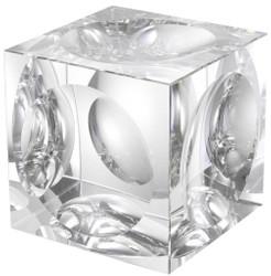 Casa Padrino Designer Deko Objekt Kristallglas Würfel 15 x 15 x H. 15 cm - Luxus Qualität