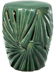 Casa Padrino Deko Trommel Grün Ø 35 x H. 45,5 cm - Dekorative Luxus Keramik Trommel