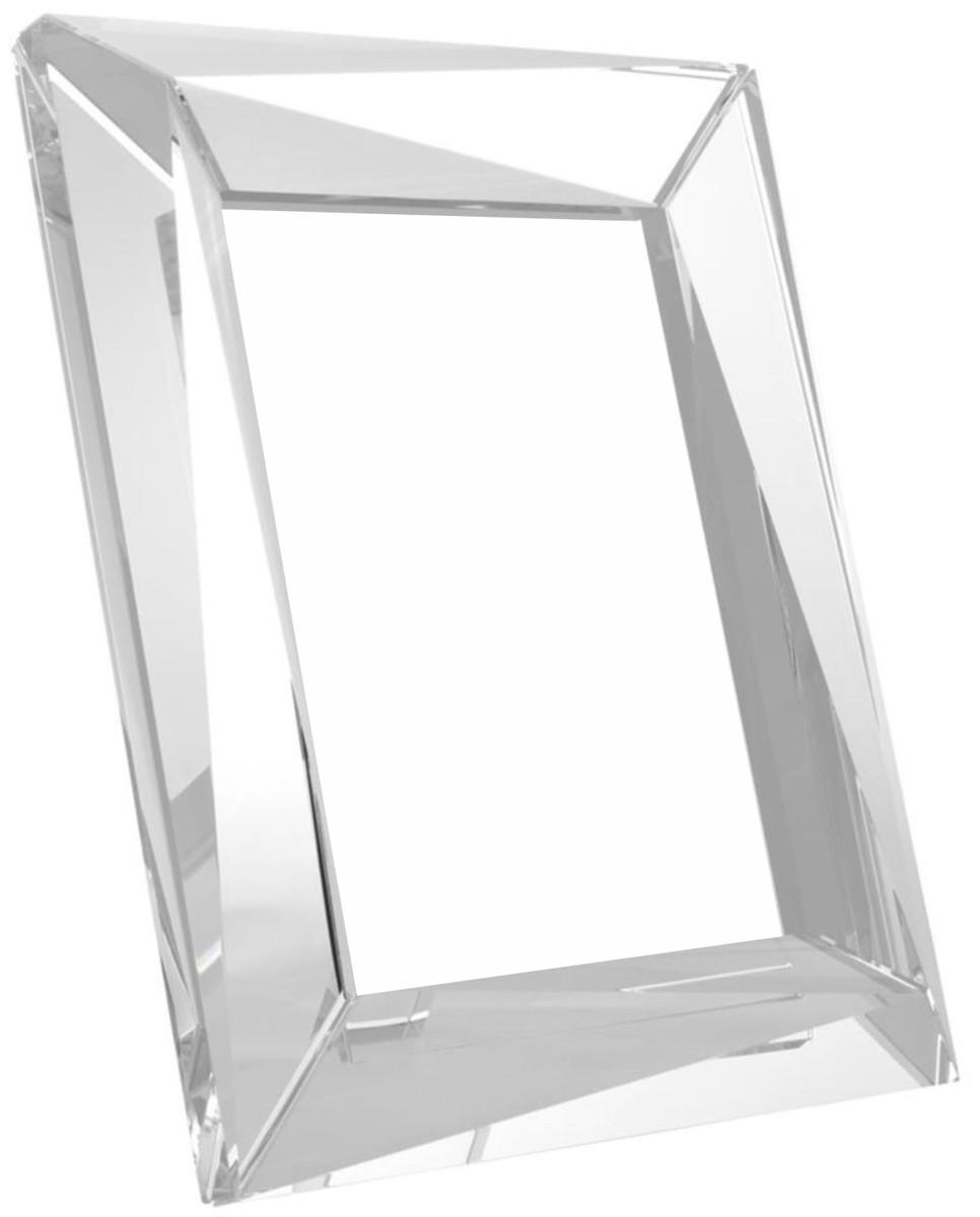 Casa Padrino Luxus Kristallglas Tisch-Bilderrahmen Set 21 x 3,5 x H ...