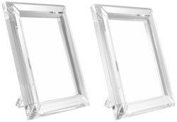 Casa Padrino Tisch-Bilderrahmen Set 19 x 2,5 x H. 24 cm - Luxus Kristallglas Deko Accessoires