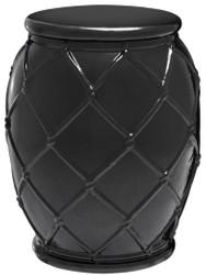 Casa Padrino Keramik Trommel Antik Schwarz Ø 35 x H. 46 cm - Luxus Kollektion