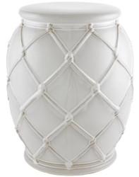 Casa Padrino Keramik Trommel Antik Weiß Ø 35 x H. 46 cm - Luxus Kollektion