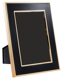 Casa Padrino Table Picture Frame Set of 6 Black / Gold 17.5 x H. 23 cm - Luxury Decoration Accessories
