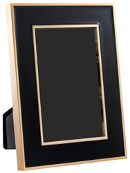 Casa Padrino Table Picture Frame Set of 6 Black / Gold 15 x H. 21 cm - Luxury Decoration Accessories