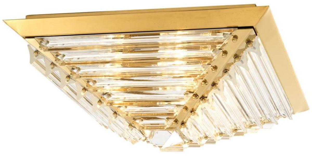Casa Padrino Luxus Deckenleuchte Mit Kristallglas Gold 49 X 49 X H