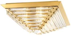 Casa Padrino Luxus Deckenleuchte mit Kristallglas Gold 49 x 49 x H. 21 cm - Luxus Qualität