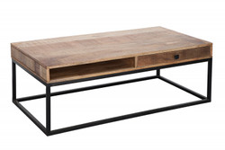 Casa Padrino Designer Coffee Table Nature / Black 115cm x 60cm x H.40cm - Designer coffee table