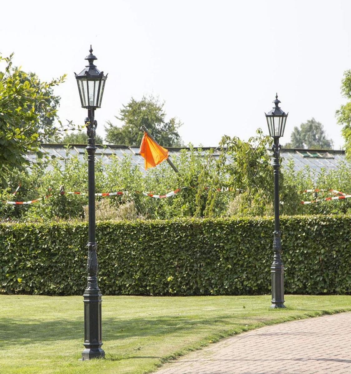 Casa Padrino Linterna Barroco de Jardín 42 x 35 x H. 315 cm - Varios  Colores - Luz Exterior Resistente a la Intemperie