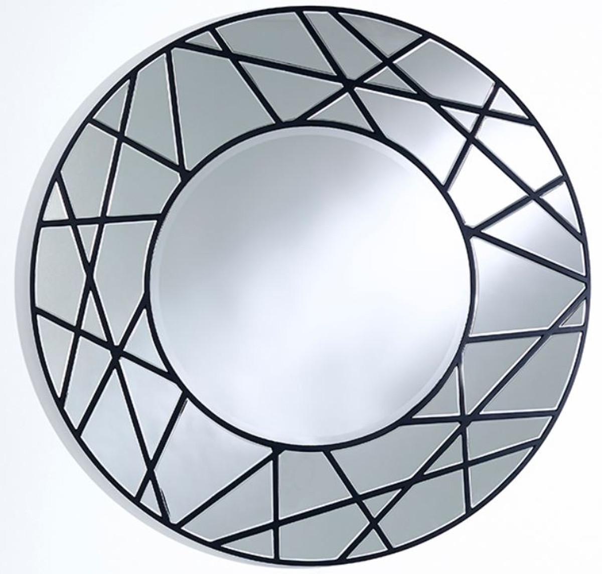 Casa Padrino Miroir Design Noir O 102 Cm Miroir Mural De Luxe Pour Salon
