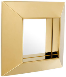 Casa Padrino luxury mirror gold 31 x 7 x H. 31 cm - Stainless Steel Wall Mirror