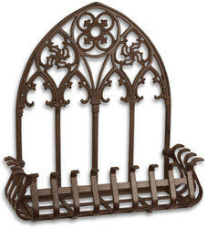 Casa Padrino Art Nouveau Flower Box Wall Hanger Brown 47.4 x 18.5 x H. 49.8 cm - Baroque & Art Nouveau Garden Accessories