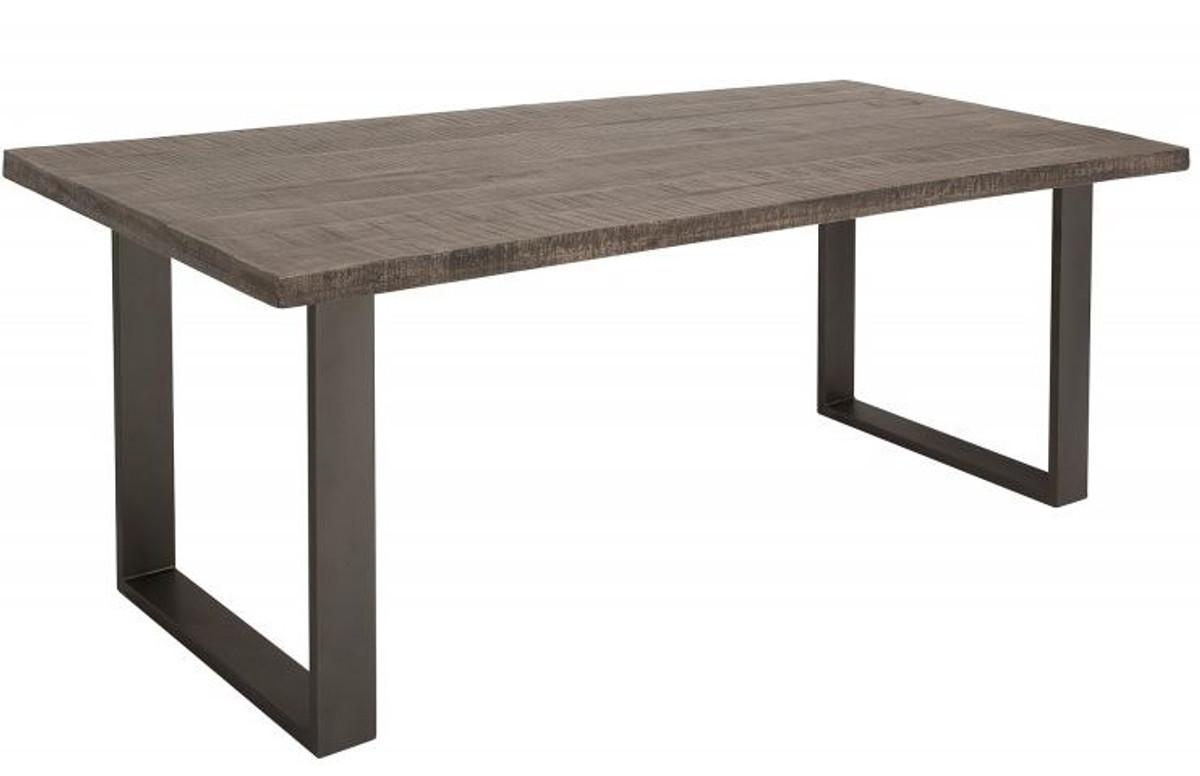 Mesa de comedor Casa Padrino 160 x 90 x H. 77 cm Mesa de cocina de diseño  en aspecto industrial