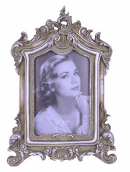 Casa Padrino Baroque Picture Frame Antique Silver H 27.3 cm, W 19 cm - SPECIAL!
