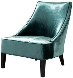 Casa Padrino Luxury Armchair Aegean Green / Black 70 x 88 x H. 85 cm - Hotel Furniture