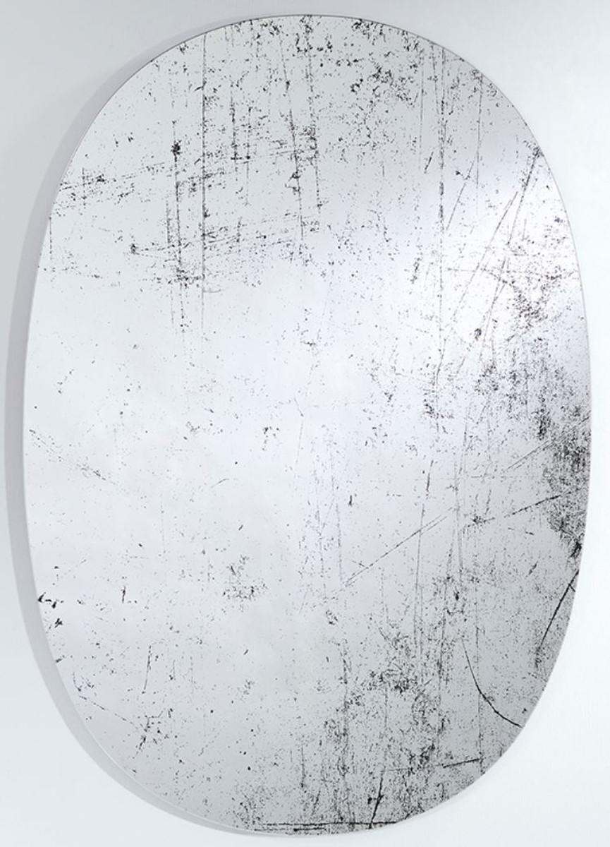 Casa Padrino Designer Wandspiegel Schwarz 76 x H. 110 cm - Luxus Wohnzimmer Spiegel  1