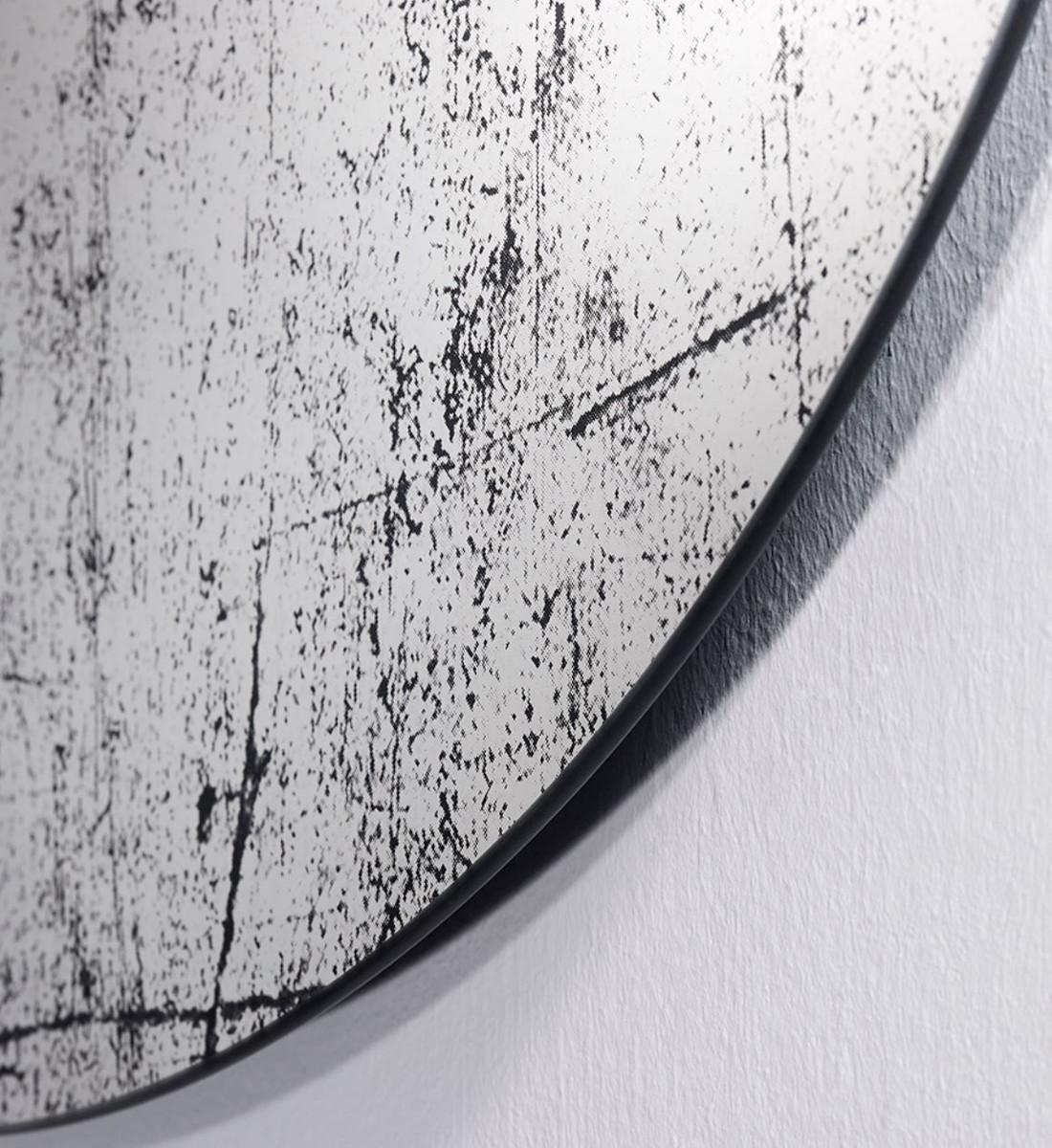 Casa Padrino Designer Wandspiegel Schwarz 76 x H. 110 cm - Luxus Wohnzimmer Spiegel  2