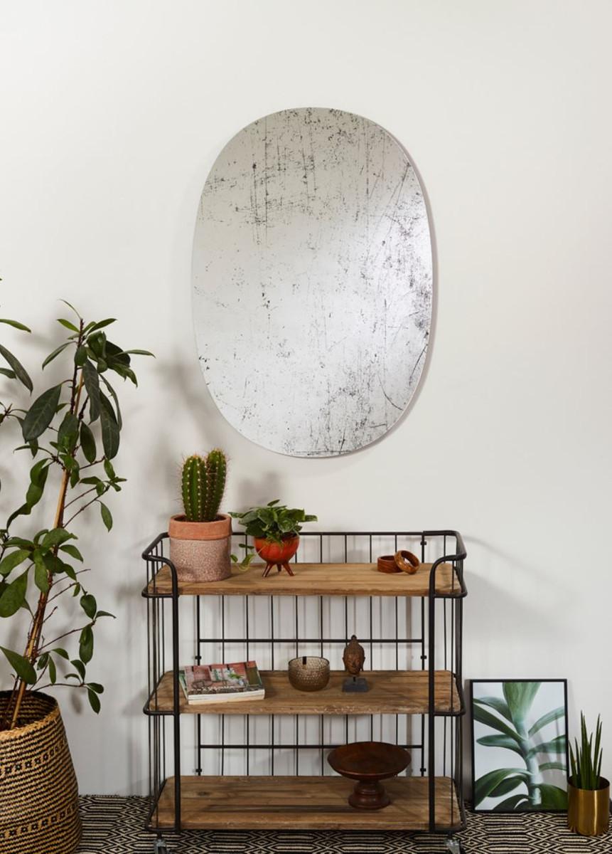 Casa Padrino Designer Wandspiegel Schwarz 76 x H. 110 cm - Luxus Wohnzimmer Spiegel  3