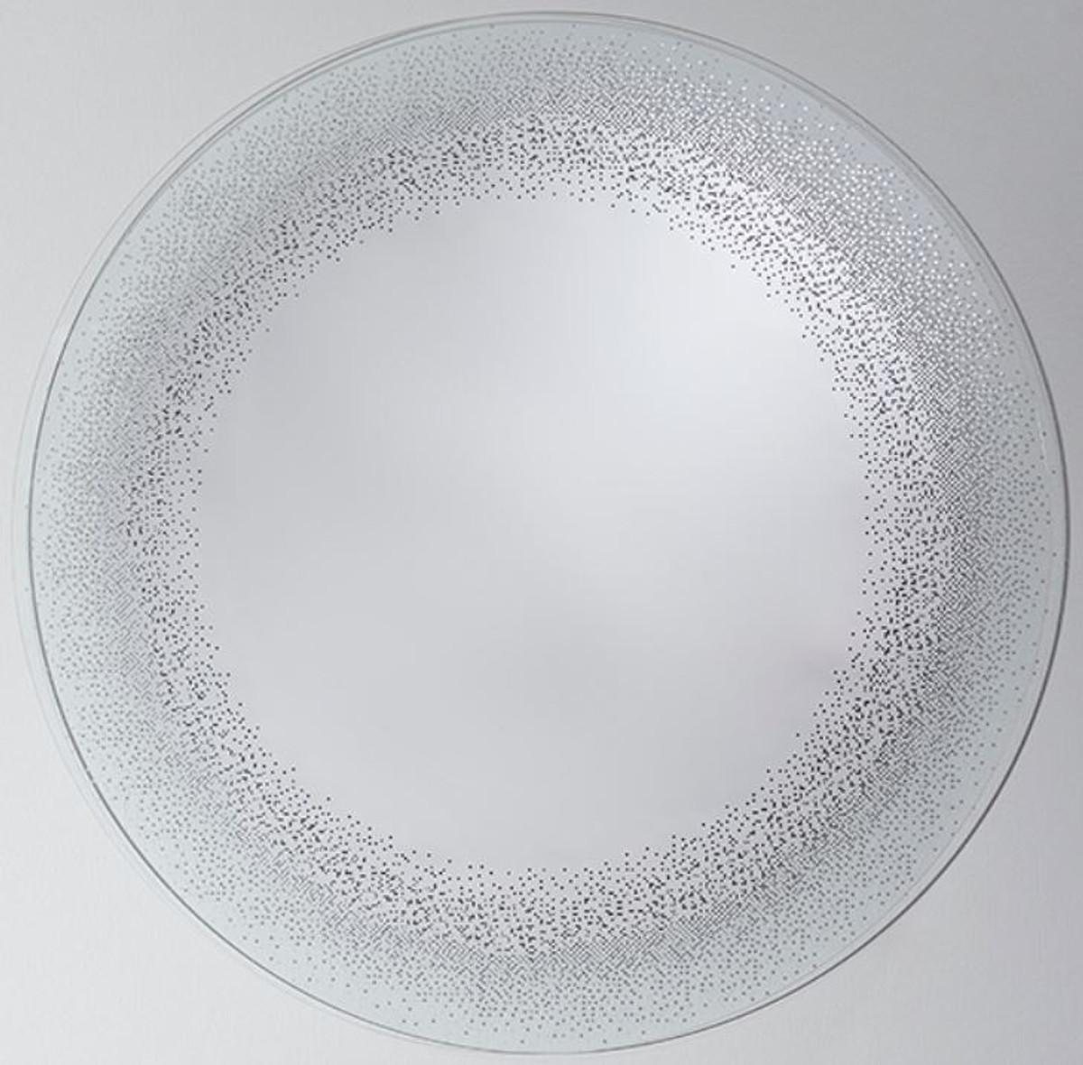 Casa Padrino Luxus Spiegel / Wandspiegel Ø 80 cm - Luxus Möbel 1