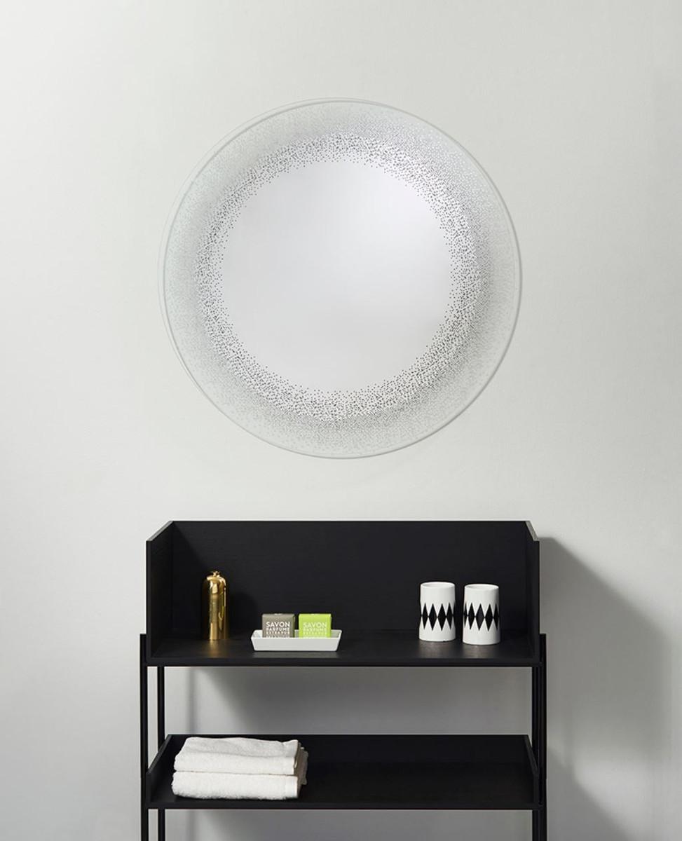 Casa Padrino Luxus Spiegel / Wandspiegel Ø 80 cm - Luxus Möbel 4