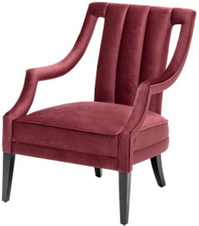 Casa Padrino luxury armchair burgundy / black 70 x 80 x H. 95 cm - Luxury Quality