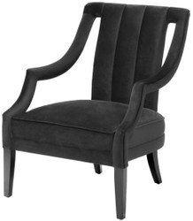 Casa Padrino luxury armchair black 70 x 80 x H. 95 cm - Luxury Quality