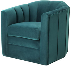 Casa Padrino luxury swivel armchair sea green 84 x 85 x H. 77 cm - Living Room Armchair