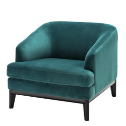 Casa Padrino luxury armchair sea green 85 x 90 x h. 75 cm - Living room armchair