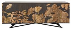 Casa Padrino Designer Kommode Sideboard 175 x 45 x H.75cm  Fernsehschrank Mod.2 - Handgefertigt aus massivem Mangoholz!