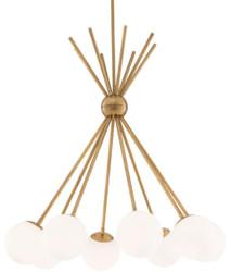 Casa Padrino luxury chandelier antique brass / white Ø 85 x H. 84 cm - Designer Furniture