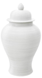Casa Padrino luxury porcelain jar with lid white Ø 25 x H. 45 cm - Hotel & Restaurant Decoration