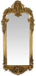 Casa Padrino Barock Spiegel Antik Gold 31,3 x H. 70,1 cm - Wandspiegel im Barockstil