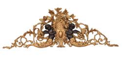 Casa Padrino Baroque door ornament 113.8 x 39.5 cm Gold antique style with angel figurines decoration