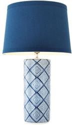 Casa Padrino Table Lamp Blue / White Ø 50 x H. 84 cm - Luxury Porcelain Table Light
