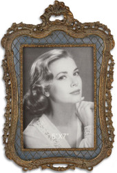 Casa Padrino Baroque Picture Frame Antique Bronze 18.7 x H 27.9 cm - Resin Picture Frame in Baroque Style