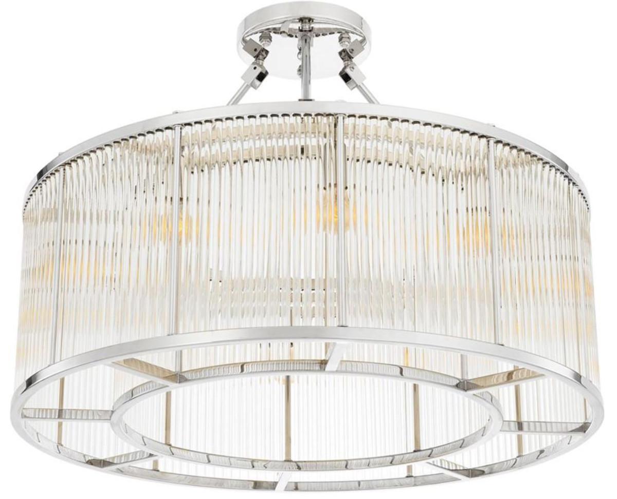 Beeindruckend Deckenlampe Silber Referenz Von Casa Padrino Deckenleuchte Ø 80 X H.