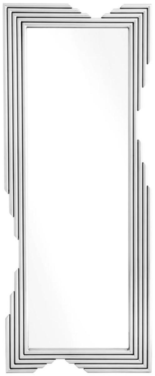 casa padrino designer edelstahl spiegel silber 81 x 6 x h 200 cm luxus wohnzimmer wandspiegel. Black Bedroom Furniture Sets. Home Design Ideas
