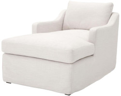 Casa Padrino Luxury Recliner Armchair White 85 x 150 x H. 75 cm - Living Room Armchair