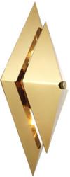 Casa Padrino Luxus Wohnzimmer Wandleuchte Gold 26 x 11,5 x H. 39 cm - Designer Leuchte