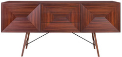 Casa Padrino luxury rosewood sideboard with 2 doors and 3 drawers brown 200 x 50 x H. 90 cm - Luxury Quality
