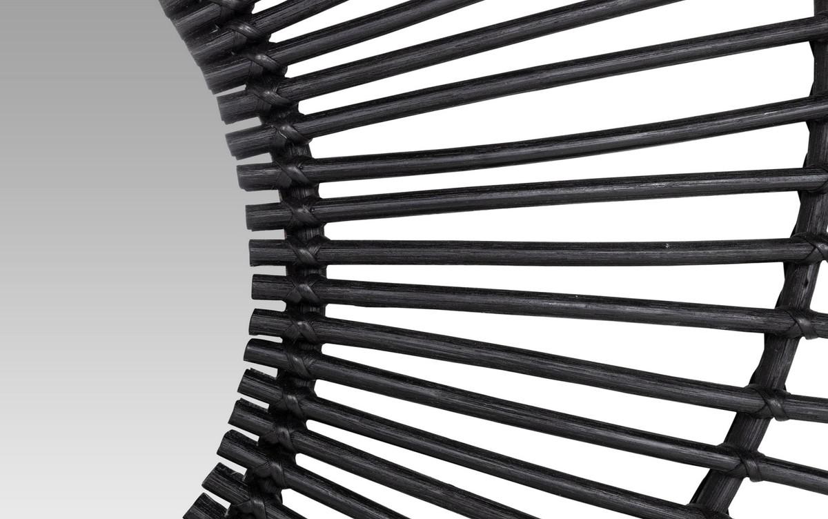 b49919957769df Casa Padrino miroir design en rotin noir Ø 120 cm - Miroir Mural Design  Soleil –