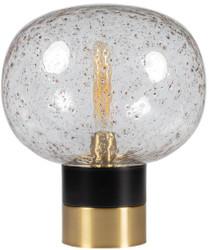 Casa Padrino Luxus Tischleuchte Schwarz / Messingfarben Ø 34 x H. 38 cm - Designer Tischlampe